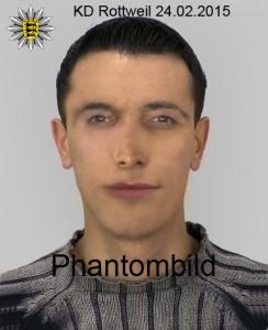 Bildquelle: Polizeipräsidium Tuttlingen - Phantombild des unbekannten Täters